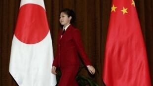 2011年11月23日中日外长在北京会见之前。
