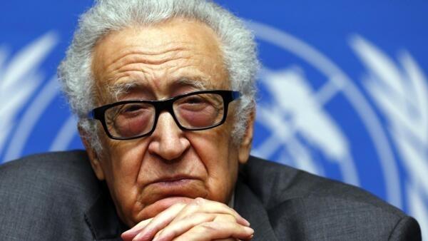 Le médiateur pour la crise syrienne Lakhdar Brahimi, le 27 janvier 2014 à Genève.