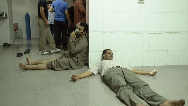 Civilian victims of the alleged chemical weapons attack in Damascus