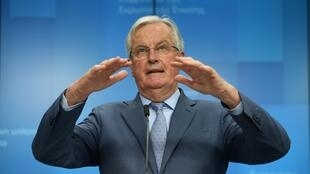 Le négociateur en chef du Brexit de l'Union européenne, Michel Barnier, à Bruxelles, le 25 février 2020.