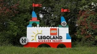L'entrée du parc Legoland à Billund, la ville danoise où sont nées les briques Lego.