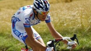 Thibaut Pinot dans le final de la 8e étape, le 8 juillet 2012.