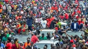 Précédente manifestation à Conakry, Guinée, le 24 octobre 2019 (image d'illustration).
