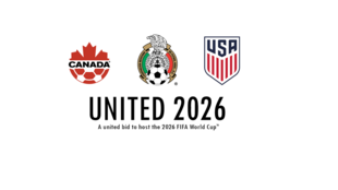 O trio composto por Estados Unidos, México e Canadá vão sediar a Copa de 2026