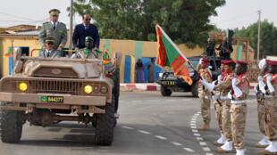 Le président mauritanien Mohamed Ould Abdel Aziz lors de la fête de l'indépendance, le 28 novembre 2017, à Kaédi.