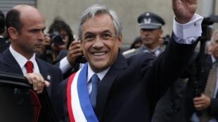 Le président du Chili, Sebastian Piñera, peu de temps après son élection.