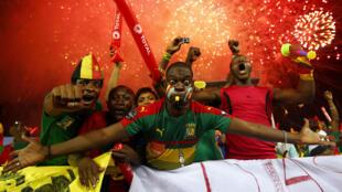 Des fans camerounais lors de la finale de la CAN 2017.