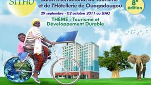 Affiche officielle  de la 8eme édition du salon international du tourisme et de l'hôtellerie de Ouagadougou au Burkina Faso.