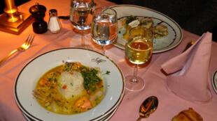 Um prato da Brasserie Mollard
