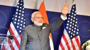 Thủ tướng Ấn Độ Narendra Modi trong buổi gặp đại diện cộng đồng người Ấn Độ tại Washington, Hoa Kỳ, ngày 25/06/2017.
