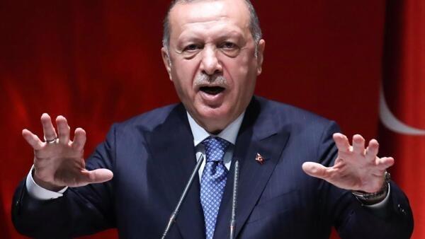 圖為土耳其總統埃爾多安(資料照片)