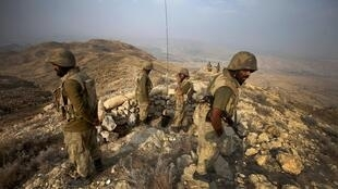 Soldiers engaged in fighting the Taliban in South Waziristan