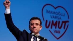 Ekrem Imamoglu, opositor turco eleito autarca de Istambul