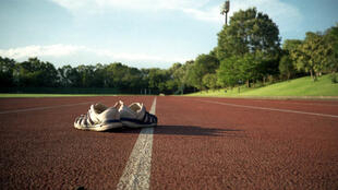 An illustration photo of an athletics track