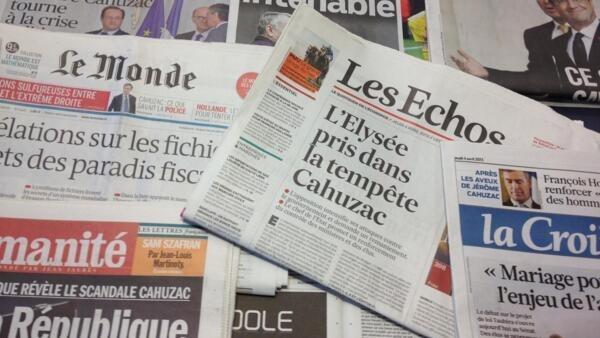 Primeiras páginas diários franceses 4/04/2013