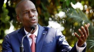 Jovenel Moïse, presidente haitiano, durante coletiva de imprensa em 15 de outubro de 2019.