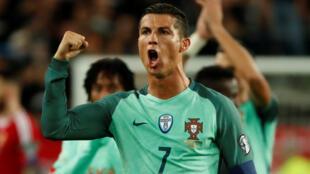 Cristiano Ronaldo, avançado e capitão da Selecção Portuguesa.
