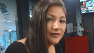 La actriz peruana Magaly Solier en los estudios de RFI