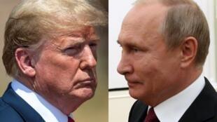 ولادیمیر پوتین و دونالد ترامپ رؤسای جمهوری روسیه و آمریکا