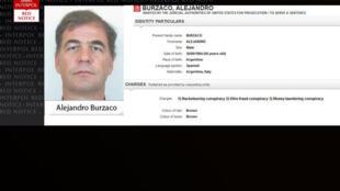 O argentino Alejandro Burzaco faz parte do alerta de prisão emitido pela Interpol.