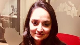L'auteure italienne Rosella Postorino en studio à RFI (janvier 2019).