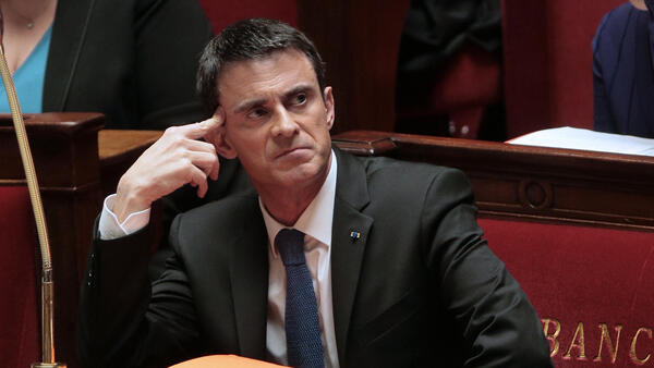 Prime Minister Manuel Valls at the National Assembly, 27 January 2015
