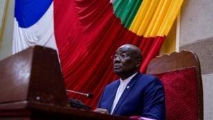 Abdou Karim Meckassoua, le 27 juillet 2018, lors d'une session de l'Assemblée nationale centrafricaine, alors qu'il en était le président.