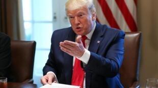 Tổng thống Mỹ Donald Trump phát biểu trong một cuộc họp ở Nhà Trắng ngày 13/06/2019.