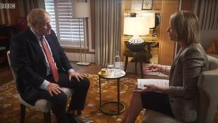 Boris Johnson trả lời phỏng vấn của đài BBC, ngày 24/06/2019. Ảnh chụp màn hình.