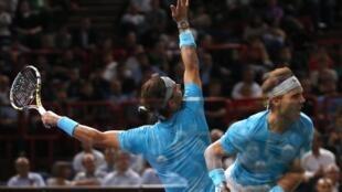 O espanhol Rafael Nadal se qualificou para as quartas-de-final após vencer o polonês Jerzy Janowicz.