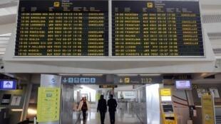 Bilbao airport on Saturday
