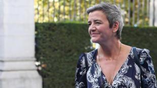 Tân phó chủ tịch Ủy Ban Châu Âu Margrethe Vestager phụ trách công nghệ số tại Bruxelles ngày 17/10/2019.