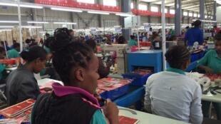 L'usine chinoise de chaussures Huajian, à Dukem, en Ethiopie.