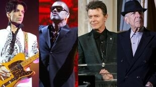 Price, George Michael, David Bowie e Leonard Cohen