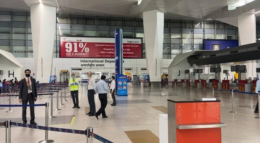 Inside Indira Gandhi airport in Delhi where strict protocols are in place for passengers