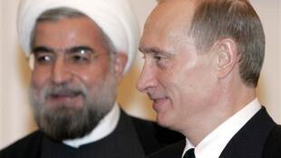 Президенты Ирана Хасан Рухани и России Владимир Путин (архив)