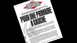 Capa do jornal francês Libération desta segunda-feira, 11 de janeiro de 2016.