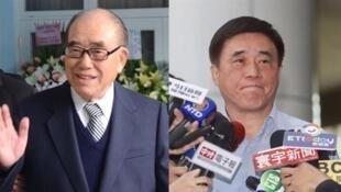 台湾行政院前院长郝柏村,其子郝龙斌受访资料图片