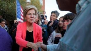 La sénatrice américaine Elizabeth Warren, candidate à la présidence américaine lors d'un rassemblement dans le New Hampshire, le 25 septembre 2019.