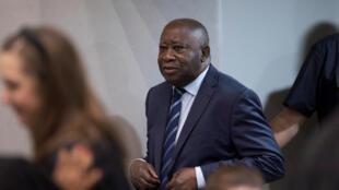 Laurent Gbagbo, à la Cour pénale internationale de La Haye, où il a été acquitté le 15 janvier 2019.