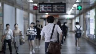 Dans le métro de Séoul, en Corée du Sud (image d'illustration).