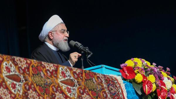 O presidente iraniano Hassan Rohani criticou postura dos Estados Unidos contra seu país.