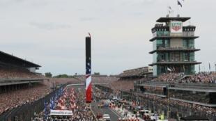 La 103e édition des 500 miles d'Indianapolis avant le départ des bolides sur le 26 mai 2019 sur le célèbre Motor Speedway