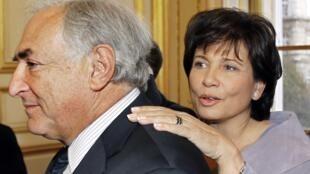 Dominique Strauss-Kahn with his wife Anne Sinclair
