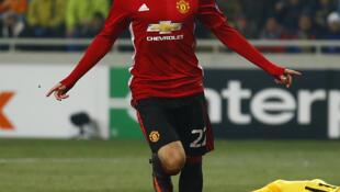 Former Borussia Dortmund star Henrik Mkhitaryan scored his first goal for Manchester United during their 2-0 win a Zorya.