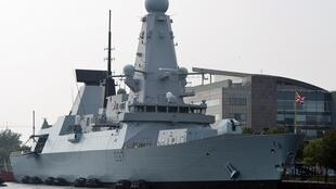 Chiến hạm anh HMS Duncan tại cảng Cardiff. Ảnh chụp ngày 3/9/2019.