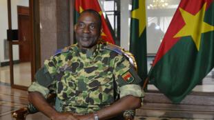 Le général Gilbert Diendéré, au palais présidentiel de Ouagadougou, le jeudi 17 septembre.2015.