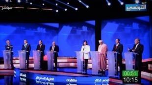 À quelques jours du premier tour de l'élection présidentielle, la Tunisie a connu samedi soir le premier débat télévisé de son histoire.