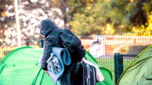 Мигранты в брюссельском парке Максимилиан. 2015 г.