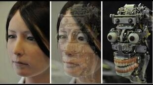 Geminoid F, la femelle androïde créée par Hiroshi Ishiguro à l'université d'Osaka.